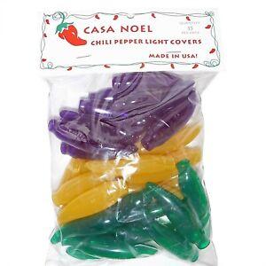 Casa Noel Mardi Gras Green Yellow Purple Chili Pepper