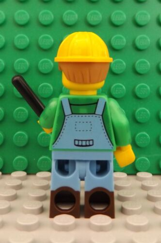 2 LEGO Brand New Mini Figures Work man City Worker Farmer Shovel Accessory Set