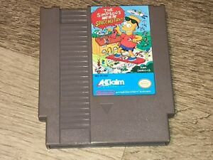 The Simpsons Bart vs the Space Mutants Nintendo Nes Cleaned & Tested Authentic