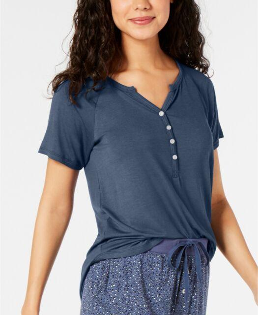 M 1X Alfani Women/'s Pajama Top V-Neck Knit Top  XS