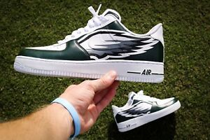 Custom Philadelphia Eagles Nike Air Force One Shoes Ebay