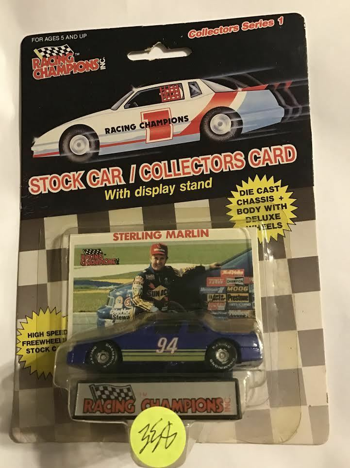 1989  STERLING MARLIN - RUBBER RUBBER RUBBER TIRE - WIDE STRIPE - NAME c7d3e7