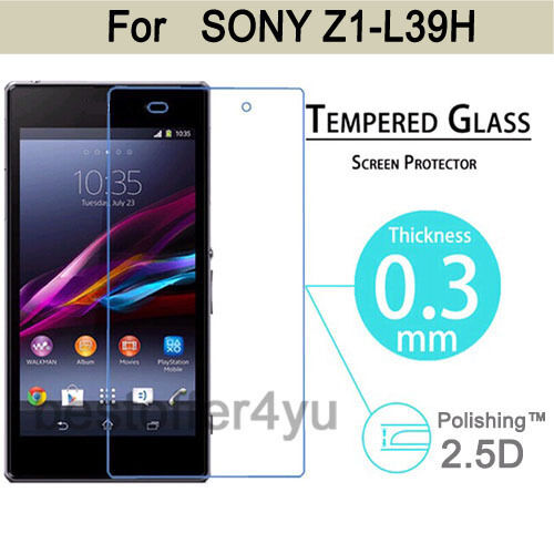 Premium Tempered Glass Film Cover Guard Screen Protector For Sony Xperia Z1 L39H