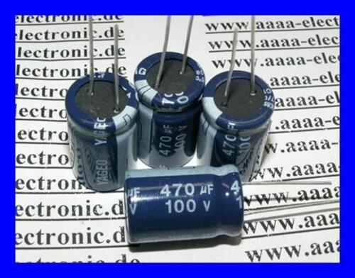 Elko radiale CONDENSATORE 470 µF 20/% 100 V 85 ° 4 pezzi
