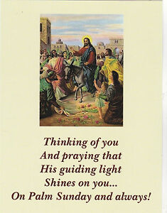 Postcard Palm Sunday Thinking Of You Praying Xt61