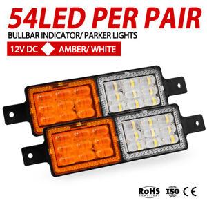 2x-Bullbar-Front-LED-Indicator-amp-Park-Light-Lamp-SUBMERSIBLE-FM850-12V