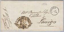 57037 - LOMBARDO VENETO - STORIA POSTALE - BUSTA in FRANCHIGIA da PIEVE CADORE