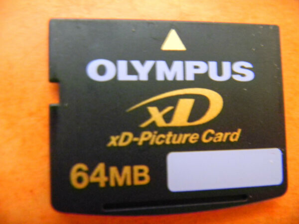 Carte Mémoire Olympus Fujifilm Hi-speed Xd-picture Card 64 Mb Original Vintage *