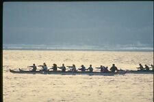 155012 Outrigger Canoe Racing Vancouver BC A4 Photo Print