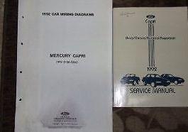 1992 FORD Mercury Capri Service Repair Shop Manual Set OEM W WIRING DIAGRAMS