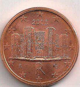 1 Euro Cent 2003 Italia Unc Demande DéPassant L'Offre