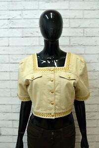 ROCCOBAROCCO-Donna-Giacca-Cotone-Taglia-50-Blazer-Vintage-Woman-Jacket-Corta