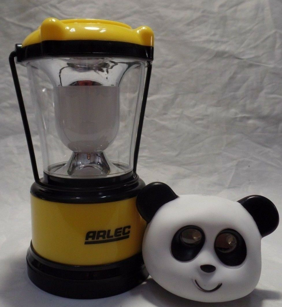 Arlec 24  LED Rechargeable Camping Lantern 2 Modes W Compass plus Panda Headlight  amazing colorways