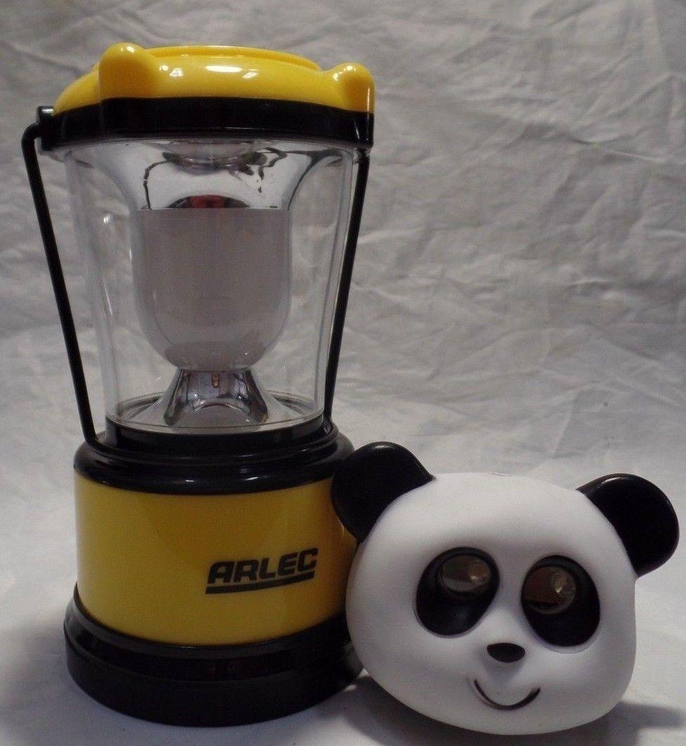Arlec 24 LED Rechargeable Camping Lantern 2 Modes W Compass plus Panda Headlight