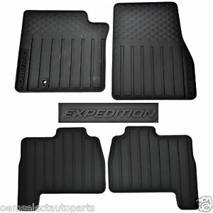 Ford Edge All Weather Floor Mats ... -2003-2010-Ford-Expedition-Black-All-Weather-Floor-Mats-7L1Z7813300AF