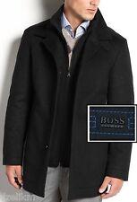 NWT Hugo Boss Black Label by Hugo Boss Jacket Wool Coat Jacket (Peacoat)