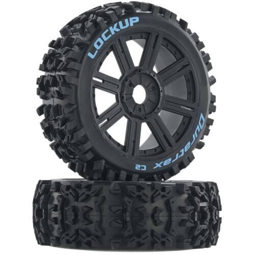 Buggy Duratrax Lockup pneu C2 monté parle noir DTXC3616 2