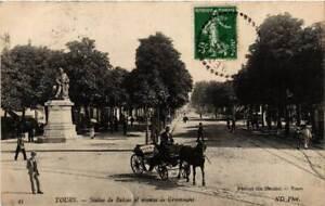 CPA-Tours-Statue-de-Balzac-el-avenue-de-Grammont-611853