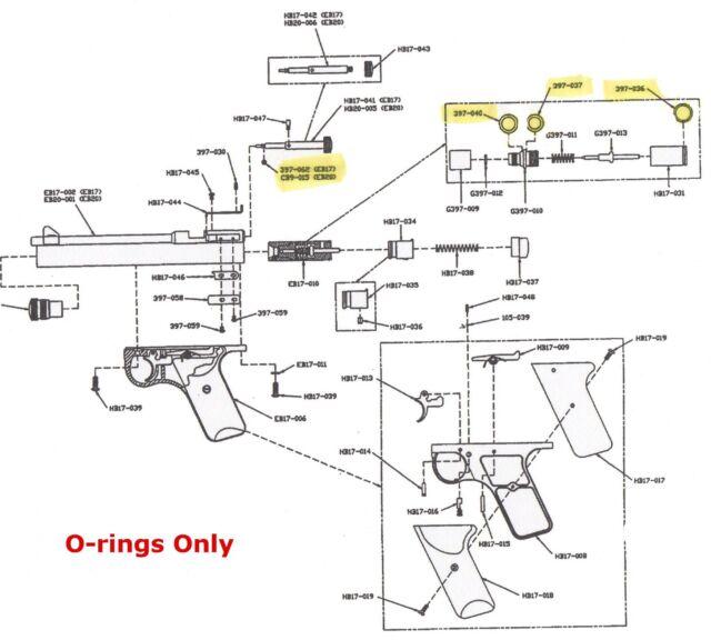 Benjamin Sheridan E9A O Ring Seal Kit