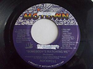 Rockwell-Somebody-s-Watching-Me-45-1983-Motown-Michael-Jackson-Vinyl-Record
