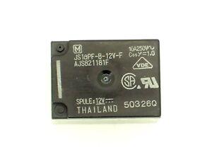 12v- Vdc 1r5 250v~ Ac/10a 1x Panasonic-relais 4 Pin Js1apf-b-12v-f js1-12v-f