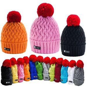 Enfants Filles Garçons Bonnet Tricot Chapeaux Cookie Style Hiver Ver ... b8107108eca