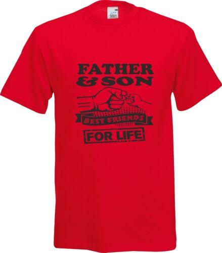 Père /& Fils meilleurs amis pour la vie Cadeau Fête des Pères Coton T Shirt