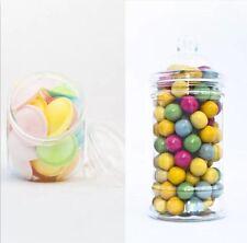 x10 500ml & 650ml Empty Plastic Sweet Jars Candy Buffet Wedding Storage Tea New