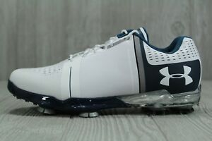 b4ac66a70a0 35 Under Armour Mens Spieth One Golf Shoes 1288574-141 White Steel ...