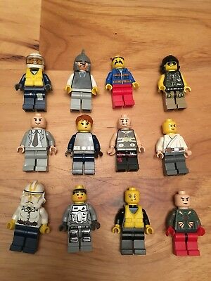 4 Random LEGO MINIFIG PEOPLE LOT grab bag of minifigure guys city town set