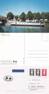 Distingué French River Cruiser Ms Dragonfly Un Navires Cached Couverture & Couleur Carte Postale-afficher Le Titre D'origine