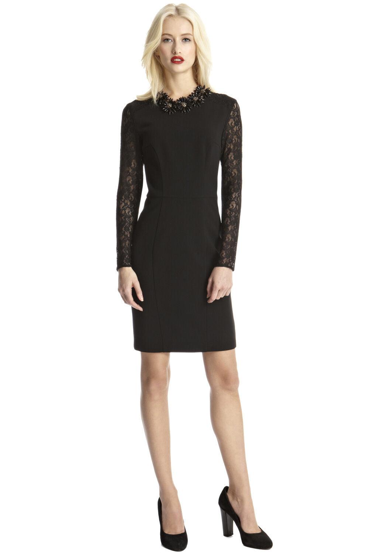 Oasis Lace Sleeve Dress 16