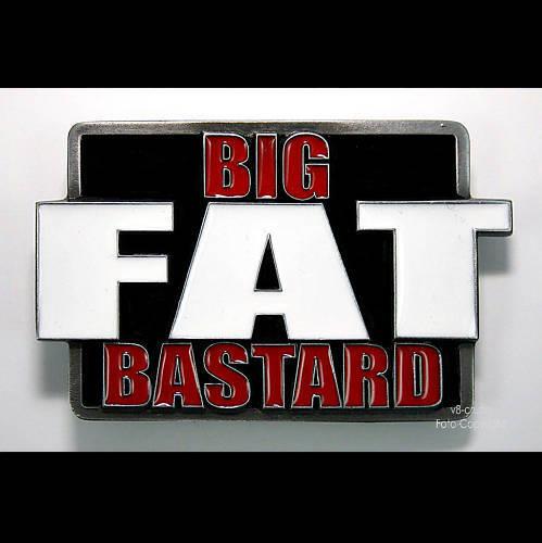Fat Biker Buckle Fun Rocker Gürtelschnalle Fettsack Bastard USA *372