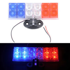 New Flashing Red and blue Light One Pair Burst Warning Light Motorcycle LED 12V