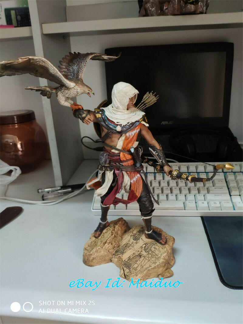 Bayek Figur Senu Eagle Assassin s Creed Staty modellllerlerl samlings PVC