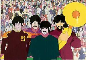 THE-BEATLES-034-All-You-Need-Is-Love-034-Hand-Painted-Prototype-Cel
