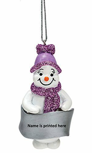 ISABELLA Snowman Lilac Glittered Christmas Tree Decoration