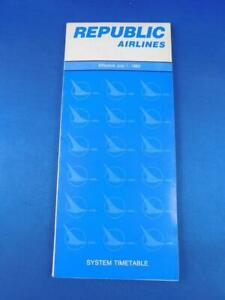 REPUBLIC-AIRLINE-TIMETABLE-SCHEDULE-JULY-1983-ADVERTISING-TRAVEL-VINTAGE