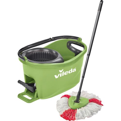 Vileda Wischmop-Set Turbo Easy Wring /& Clean Box Bodenwischer grün