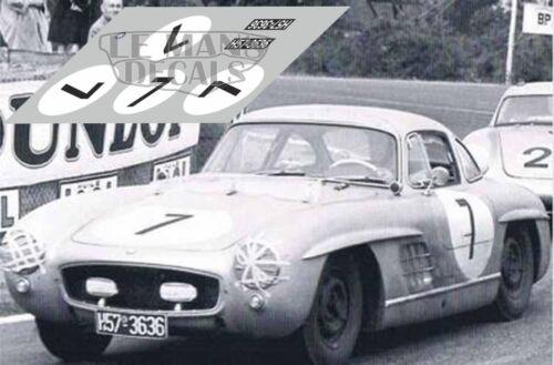 Calcas Mercedes 300SL Le Mans 1956 7 1:32 1:43 1:24 1:18 300 SL decals