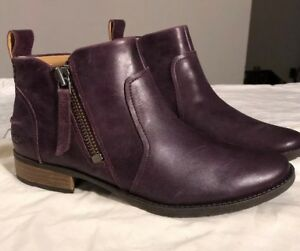 8c0e4999c88 Details about UGG Aureo Oxblood Color Leather Zip up Ankle Booties/ Boots  Sz 9 Woman 1098314