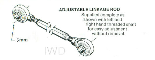 "Weber Carb Universal Adjustable Throttle Linkage Rod Swivel Ends 1//2/"" Adj 3/"""