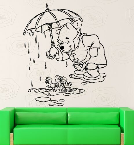 Wall Stickers Vinyl Decal Kids Room Winnie The Pooh Cartoon Baby Decor ig1054