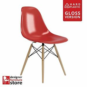 Replica-Eames-DSW-Dining-Chair-with-Beech-Legs-Red-ABS-Plastic
