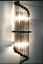 Ancien-Old-Art-Deco-Skyscraper-Laiton-amp-Glass-Rod-Lumiere-Appliques-murale-Lampe miniature 2