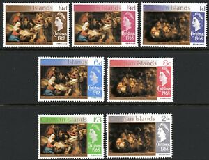 Cayman-Islands-1968-Christmas-set-of-7-Mint-Unhinged