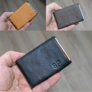 b70e01201b46 Details about NERO Leather Wallet Card Holder Minimalist Wallet Compact  Slim - RFID Blocking