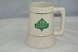 Summit-Brewing-Company-Collectible-Cream-Gold-Trim-Beer-Stein-Liter-Mug