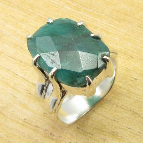 De Nombreuses Tailles à Choisir 925 Plaqué Argent Amazonite /& autres Gemstone Ring Jewelry