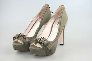 Pompes 5kp097 38 Miu Toe`s Chaussures Compensées Luxe Peep 39 5 Militare New 1H5BawHq